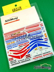 Tabu Design: Decals 1/12 scale - Honda NSR250R Shell Dunlop - World Championship 1988