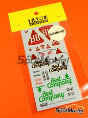 Tabu Design: Decals 1/12 scale - Honda NSR500 HB International #9 - World Championship 1989 - for Hasegawa kit 21714 image