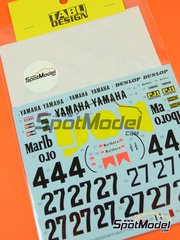 Tabu Design: Decals 1/12 scale - Yamaha YZR500 OW70 Marlboro #4, 27 - Kenny Roberts (US) - World Championship 1983 - for Tamiya reference TAM14075 image
