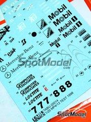Tabu Design: Decals 1/20 scale - McLaren Mercedes MP4/13