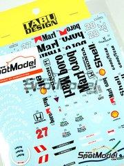 Tabu Design: Decals 1/20 scale - McLaren MP4/5B