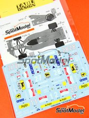 Tabu Design: Decals 1/20 scale - Ferrari 639 + F189 Fiat #27, 28 - Michele Alboreto (IT), Alain Prost (FR), Nigel Ernest James Mansell (GB) - Press version 1988 and 1989 - for Tamiya kits TAM20023 and TAM20024