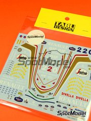 Tabu Design: Decals 1/20 scale - Williams Renault FW16 Rothmans #0, 2 - World Championship 1994 - for Fujimi kits FJ090580 and FJ090597