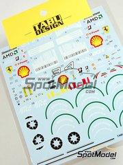 Tabu Design: Decals 1/20 scale - Ferrari F60 Marlboro barcodes AMD Alice Bridgestone