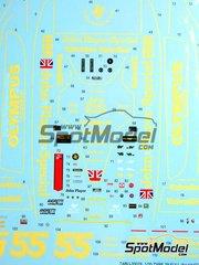 Tabu Design: Decals 1/20 scale - Lotus Type 79
