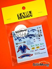 Tabu Design: Marking / livery 1/20 scale - Williams Renault FW14B Camel - Damon Hill (GB), Alain Prost (FR) - FIA Formula 1 World Championship 1992 - water slide decals - for Fujimi references FJ090528, 090528, 09052, GP-17, FJ090702, 090702, 09070, GP-24, FJ090757, 090757, 09075, GPSP-13, FJ090795, 090795, 09079 and GP-26