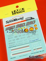 Tabu Design: Decals 1/24 scale - Ferrari F360 Stradale and Challenge Stradale 1999, 2000, 2001, 2002 and 2003 - for Tamiya kit