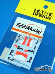 Tabu Design: Marking / livery 1/24 scale - Toyota Celica GT-Four ST165 Marlboro - water slide decals - for Beemax Model Kits references B24001, Aoshima 081198, B24002, Aoshima 084229, B24006 and Aoshima 097885