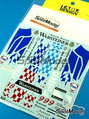 Tabu Design: Decoración escala 1/24 - McLaren F1 GTR Long Tail Fina Nº 8, 9 - Peter Kox (NL) + Roberto Ravaglia (IT) - Suzuka 1997 - calcas de agua - para la referencia de Aoshima AOSH-00749