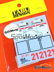 Tabu Design: Decals 1/24 scale - Toyota TA64 Celica Marlboro #21 - Safari Rally 1985 - for Aoshima kit AOS08456