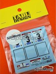 Tabu Design: Decoración escala 1/24 - Toyota Celica GT-Four ST165 Grupo A Marlboro Nº 3 - Rally Safari Kenia 1990 - calcas de agua - para las referencias de Beemax Model Kits B24006 y Aoshima 097885