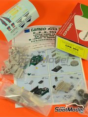 Tameo Kits: Model car kit 1/43 scale - Lotus Ford Type 79 Martini Essex #1, 2 - Mario Andretti (US), Carlos Reutemann (AR) - Italian Grand Prix 1979 - photo-etched parts, turned metal parts, water slide decals, white metal parts and assembly instructions
