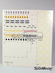 Tameo Kits: Calcas de agua escala 1/43 - Sparco, OMP, Ipra, Behr, Britax, Sabelt, Arexons, Willans, Firestone, Pirelli, Goodyear logos