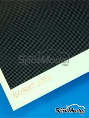 Tameo Kits: Decals 1/43 scale - Black checkered carbon fiber 70x110mm