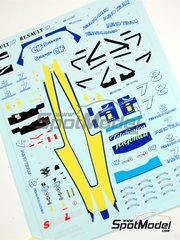 Tameo Kits: Marking / livery 1/43 scale - Renault R24 Mild Seven #7, 8 - Fernando Alonso (ES), Jarno Trulli (IT) - Monaco Grand Prix 2004 - water slide decals - for Tameo Kits kit SLK013