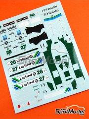 Tameo Kits: Marking / livery 1/43 scale - Williams Ford FW07B Saudia #27, 28 - Carlos Reutemann (AR), Alan Jones (AU) - Monaco Formula 1 Grand Prix 1980 - water slide decals - for Tameo Kits reference SLK022