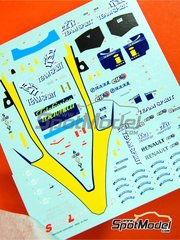 Tameo Kits: Marking / livery 1/43 scale - Renault R25 Mild Seven #5, 6 - Fernando Alonso (ES), Giancarlo Fisichella (IT) - Chinese Grand Prix 2005 - water slide decals - for Tameo Kits kit SLK023
