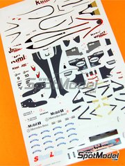 Tameo Kits: Marking / livery 1/43 scale - McLaren MP4/20 Henkel #9, 10 - Kimi Räikkönen (FI), Juan Pablo Montoya (CO) - Japan Grand Prix 2005 - water slide decals - for Tameo Kits kit SLK027