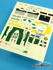 Tameo Kits: Marking / livery 1/43 scale - Williams Honda FW09 Saudia #5, 6 - Keijo Erik 'Keke' Rosberg (FI), Jacques Laffite (FR) - USA Grand Prix 1984 - water slide decals - for Tameo Kits reference SLK032