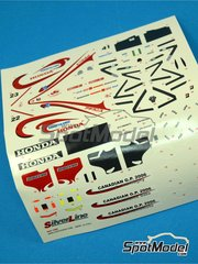 Tameo Kits: Marking / livery 1/43 scale - Super Aguri Honda SA05 Smantha Kingz #22, 23, 41 - Takuma Sato (JP), Franck Montagny (FR), Sakon Yamamoto (JP) - Canadian Grand Prix 2006 - water slide decals - for Tameo Kits reference SLK035