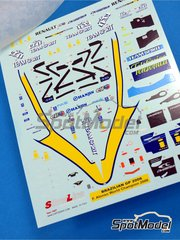 Tameo Kits: Decals 1/43 scale - Renault R26 Mild Seven #1, 2 - Fernando Alonso (ES), Giancarlo Fisichella (IT) - Canadian Grand Prix 2006 - for Tameo Kits kit SLK040