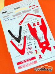 Tameo Kits: Marking 1/43 scale - McLaren Ford M23 Marlboro #1, 2 - Emerson Fittipaldi (BR), Jochen Mass (DE) - British Grand Prix 1975 - for Tameo Kits kit SLK088