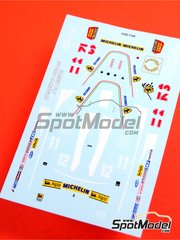 Tameo Kits: Decals 1/43 scale - Ferrari 312T4 Fiat #11, 12 - Jody Scheckter (ZA), Jacques Villeneuve (CA) - Italian Grand Prix 1979 - for Tameo Kits kit WCT079