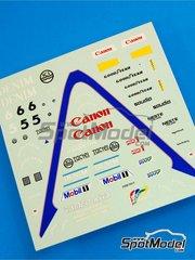 Tameo Kits: Marking / livery 1/43 scale - Williams Honda FW10 Canon #5, 6 - Nigel Ernest James Mansell (GB), Keijo Erik 'Keke' Rosberg (FI) - Monaco Grand Prix 1985 - water slide decals - for Tameo Kits reference TMK023