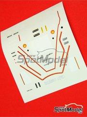 Tameo Kits: Marking / livery 1/43 scale - Zakspeed ZAK1 - Jonathan Palmer (GB) - Monaco Grand Prix 1985 - water slide decals - for Tameo Kits reference TMK024