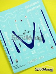 Tameo Kits: Marking / livery 1/43 scale - Beatrice Hart THL1 Beatrice #33 - Alan Jones (AU) - Italian Grand Prix 1985 - water slide decals - for Tameo Kits reference TMK025