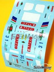 Tameo Kits: Marking / livery 1/43 scale - AGS Motori Moderni JH21c Charro #31 - Ivan Capelli (IT) - Italian Grand Prix 1986 - water slide decals - for Tameo Kits reference TMK047