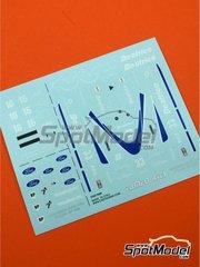 Tameo Kits: Marking / livery 1/43 scale - Lola Force Ford THL2 - Patrick Tambay (FR), Alan Jones (AU) - Italian Grand Prix 1986 - water slide decals - for Tameo Kits reference TMK052