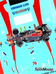 Tameo Kits: Marking / livery 1/43 scale - Lola Cosworth Lc87 - Phillippe Alliot (FR) - San Marino Grand Prix 1987 - water slide decals - for Tameo Kits reference TMK061