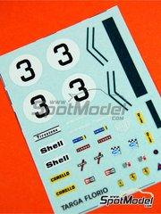Tameo Kits: Marking 1/43 scale - Ferrari 312PB Sport Shell #3 - Sandro Munari (IT), Arturo Merzario (IT) - Targa Florio 1972 - water slide decals - for Tameo Kits kit TMK068