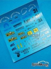 Tameo Kits: Marking / livery 1/43 scale - Coloni Cosworth CF188 Camel #31 - Gabriele Tarquini (IT) - Monaco Formula 1 Grand Prix 1988 - water slide decals - for Tameo Kits reference TMK075