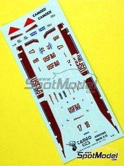 Tameo Kits: Marking / livery 1/43 scale - Arrow Megatron A10b USF&G #17, 18 - Derek Warwick (GB), Eddie Cheever (US) - Brazilian Formula 1 Grand Prix 1988 - water slide decals - for Tameo Kits reference TMK078
