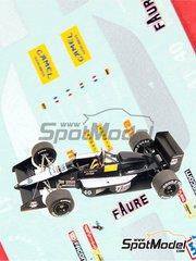 Tameo Kits: Marking / livery 1/43 scale - AGS Cosworth JH23 Camel #40, 41 - Gabriele Tarquini (IT), Joachim Winkelhock (DE) - Monaco Formula 1 Grand Prix 1989 - water slide decals - for Tameo Kits reference TMK099
