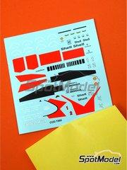 Tameo Kits: Marking / livery 1/43 scale - McLaren Honda MP4/5 Marlboro #1, 2 - Ayrton Senna (BR), Alain Prost (FR) - British Formula 1 Grand Prix 1989 - water slide decals - for Tameo Kits reference TMK112