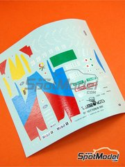 Tameo Kits: Marking / livery 1/43 scale - Benetton Ford B190 Riello Benetton #19, 20 - Alessandro Nannini (IT), Nelson Piquet (BR) - Monaco Grand Prix 1990 - water slide decals - for Tameo Kits reference TMK131