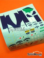 Tameo Kits: Marking / livery 1/43 scale - Benetton Ford B190b Camel #19, 20 - Roberto Moreno (BR), Nelson Piquet (BR) - USA Formula 1 Grand Prix 1991 - water slide decals - for Tameo Kits reference TMK139