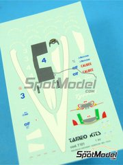 Tameo Kits: Marking 1/43 scale - Tyrrell Ilmor 020b ELF #4, 5 - Andrea de Cesaris (IT), Olivier Grouillard (FR) - Mexican Grand Prix 1992 - for Tameo Kits kit TMK156