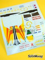 Tameo Kits: Marking 1/43 scale - Lotus Ford 107 Hitachi #11, 12 - Johnn 'Johnny' Herbert (GB), Mika Häkkinen (FI) - Italian Grand Prix 1992 - for Tameo Kits kit TMK157