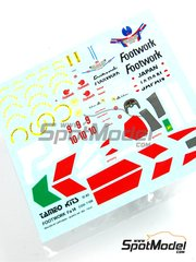 Tameo Kits: Marking / livery 1/43 scale - Footwork Mugen Fa14 Footwork #9, 10 - Aguri Suzuki (JP), Derek Warwick (GB) - French Grand Prix 1993 - water slide decals - for Tameo Kits kit TMK172