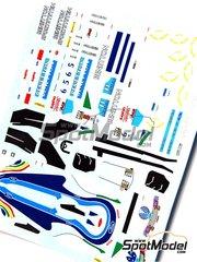 Tameo Kits: Marking / livery 1/43 scale - Benetton Ford B194 Mild Seven #5, 6 - Michael Schumacher (DE), Jyrki Juhani 'JJ Lehto' Jarvilehto (FI) - Spanish Grand Prix 1994 - water slide decals - for Tameo Kits reference TMK179