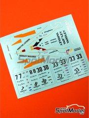 Tameo Kits: Marking 1/43 scale - McLaren Ford M23 Yardley #33 - Mike Hailwood (GB) - Brazilian Grand Prix 1974 - for Tameo Kits kit TMK221