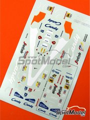 Tameo Kits: Marking / livery 1/43 scale - Toleman Hart TG184 - Pierluigi Martini (IT), Stefan Johansson (SE) - Italian Grand Prix 1984 - water slide decals - for Tameo Kits reference TMK228