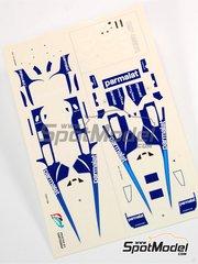 Tameo Kits: Decoración escala 1/43 - Brabham Alfa Romeo BT46 Parmalat Nº 1, 2 - John Watson (GB), Niki Lauda (AT) - Gran Premio de Fórmula 1 de Italia 1978 - calcas de agua - para la referencia de Tameo Kits TMK232