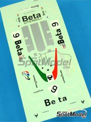 Tameo Kits: Decoración escala 1/43 - March Ford 761 Beta Utensili - Vittorio Brambilla (IT) - Gran Premio de Formula 1 de Mónaco 1976 - calcas de agua - para la referencia de Tameo Kits TMK235