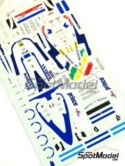 Tameo Kits: Marking / livery 1/43 scale - Benetton Renault B197 AKAI #7, 8 - Gerhard Berger (AT), Jean Alesi (FR) - Monaco Grand Prix 1997 - water slide decals - for Tameo Kits kit TMK242