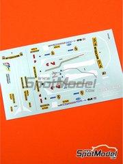 Tameo Kits: Marking / livery 1/43 scale - Ferrari 312T5 Fiat #1, 2 - Jody Scheckter (ZA), Gilles Villeneuve (CA) - Belgian Formula 1 Grand Prix 1980 - water slide decals - for Tameo Kits reference TMK248